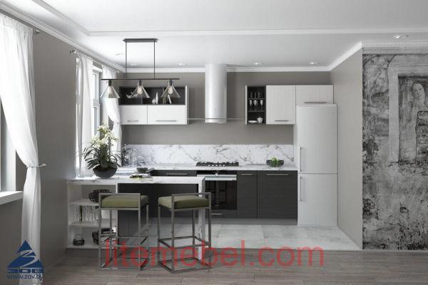 Кухня с фасадами ЛДСП Акация / Гасиенда