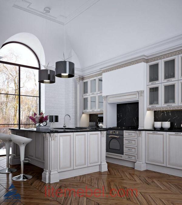 Кухня с фасадами Лоренцо Бьянко
