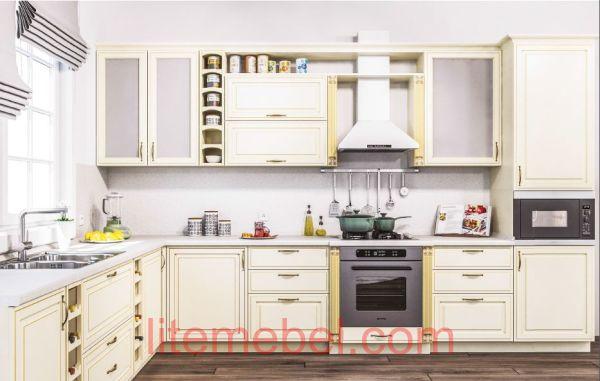 Кухня с крашенным фасадом Профиль 88, WCP7, матовая.