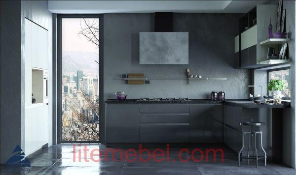 Кухня с фасадами Пластик Нуга
