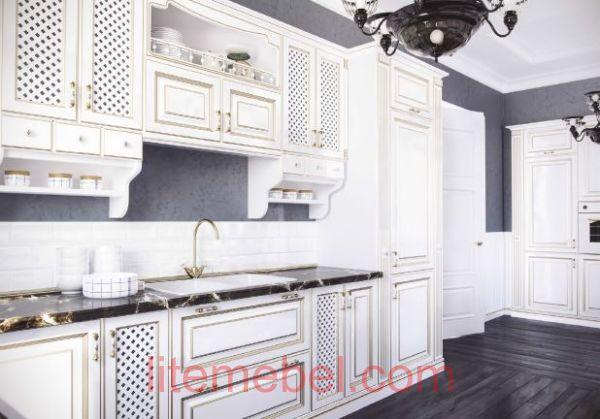 Кухня с крашенными фасадами 83 RAL 9010