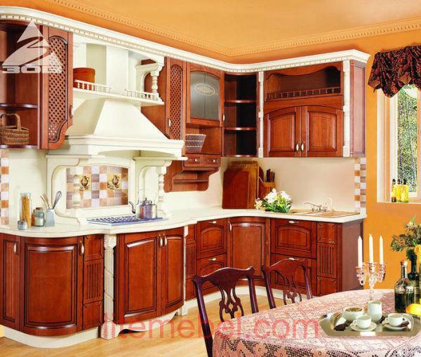 Кухня с фасадами массив Ясеня Т 512 / 102