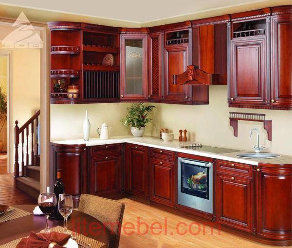 Кухня с фасадами массив Черешни 12 тип 14