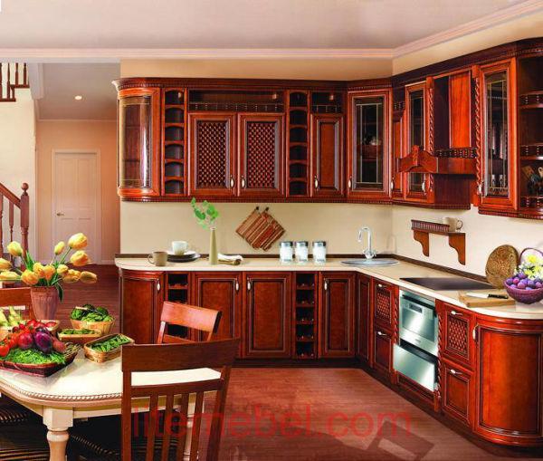 Кухня с фасадами массив Черешни 10 тип 12