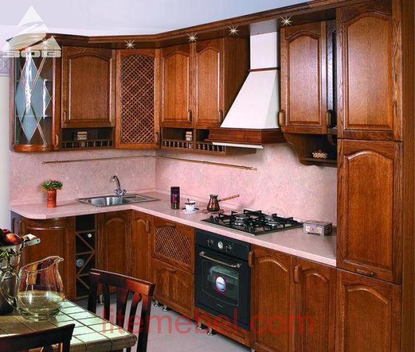 Кухня с фасадами Массив Дуб 03 тип 01