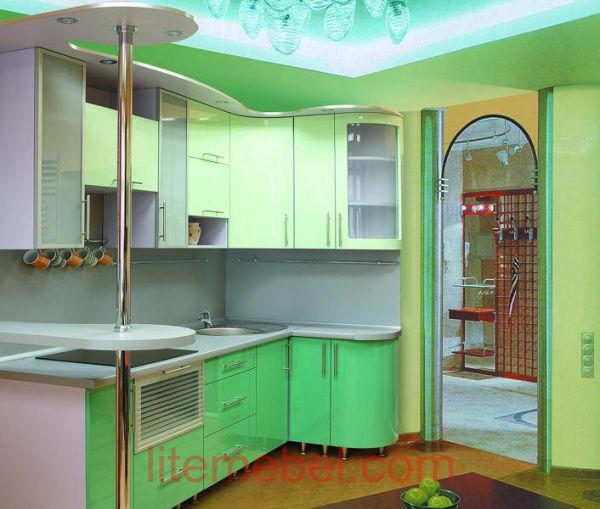 Кухня с крашенными фасадами Система глянец ZOV186 / ZOV188