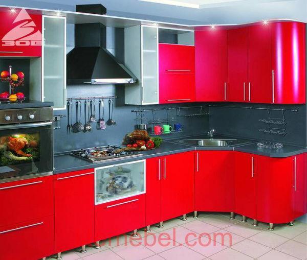 Кухня с крашенными фасадами Система ZOV162