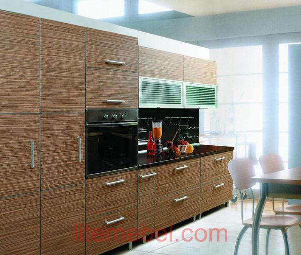 Кухня с фасадами Пластик Тростник натуральный