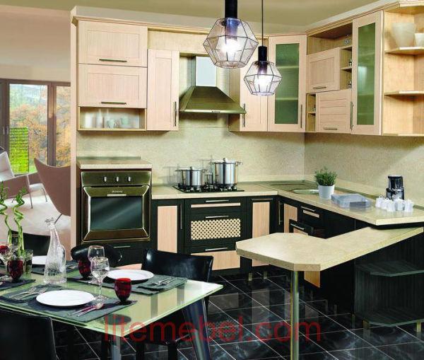 Кухня с фасадами Техно-1