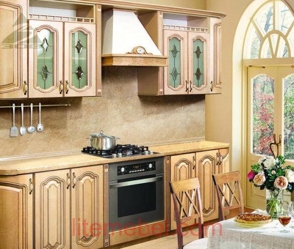 Кухня с фасадами Скарлет-5