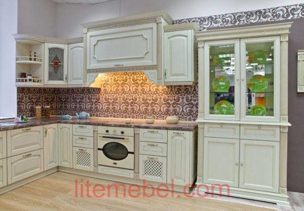 Кухня с фасадом Массив Ясеня, Проект № 4190
