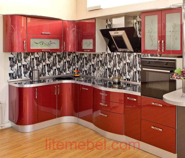 Кухня крашенными с фасадами Система, Проект № 2101