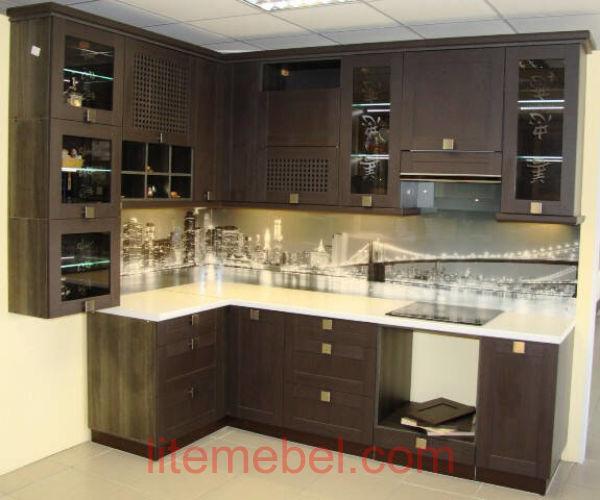 Кухня с фасадами Техно, Проект № 5244