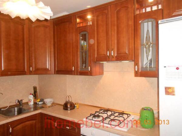Кухня с фасадом Массив Ольхи, Проект № 4111