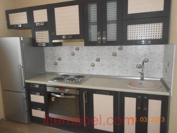 Кухня с фасадами Техно, Проект № 5166