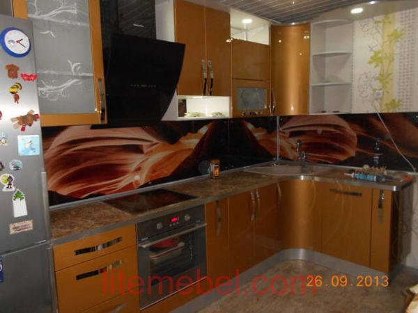 Кухня крашенными с фасадами Система, Проект № 2500