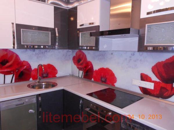 Кухня с фасадами Акрил, Проект № 1239
