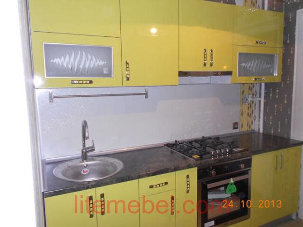 Кухня с пластиковыми фасадами, Проект № 3156