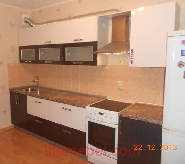 Кухня с фасадами Акрил, Проект № 1224