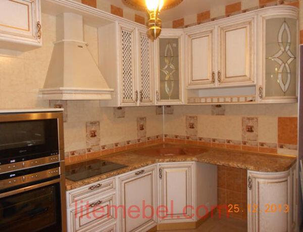 Кухня с фасадом Массив Дуба, Проект № 4125