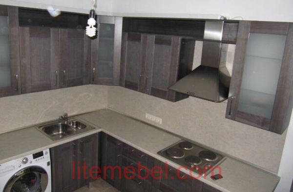 Кухня с фасадом Массив Ясеня, Проект № 4361