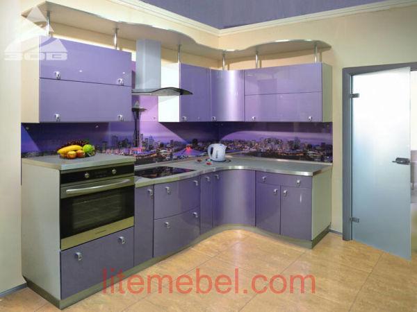 Кухня с крашенными фасадами Система матовая RAL4011
