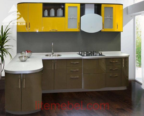 Кухня с крашенными фасадами Система RAL1004 / RAL7013