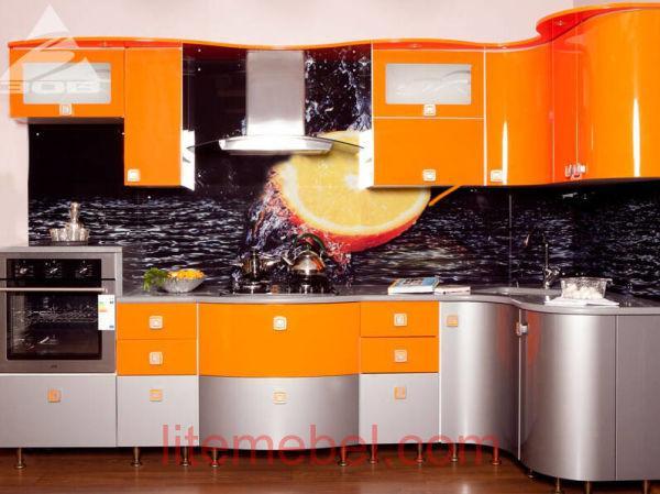 Кухня крашенными с фасадами Система RAL2008 / М2