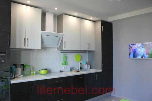 Кухня с фасадами Акрил, Проект № 1124