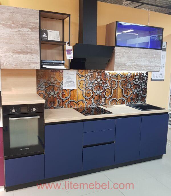 Кухня с фасадами Пластик Феникс (Fenix matt), Проект №3094
