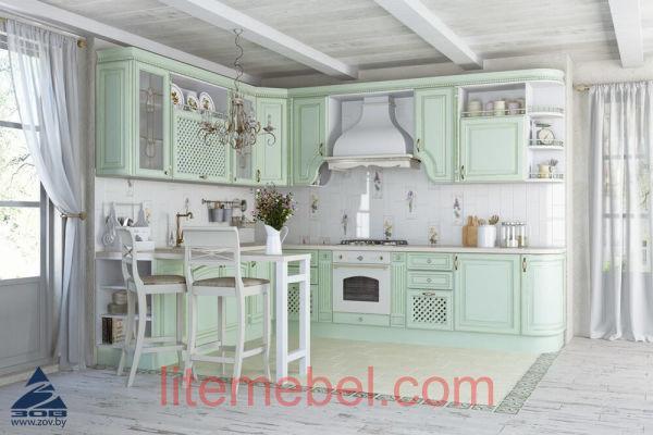 Кухня с фасадами Париж