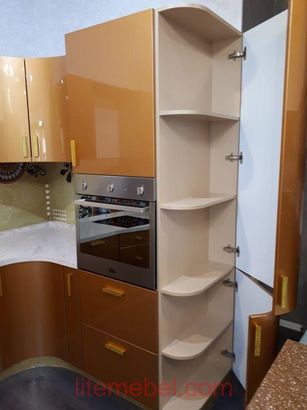 Кухня крашенными с фасадами Система, Проект № 2607