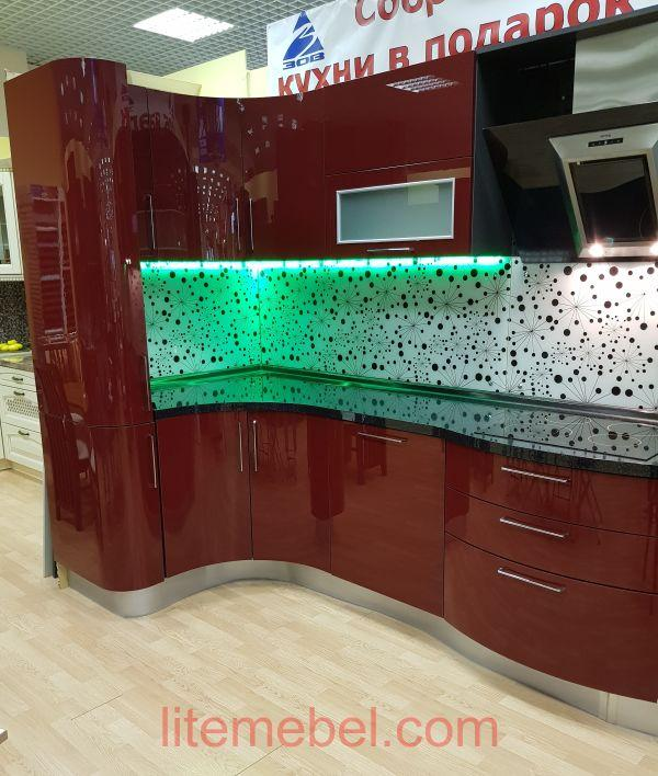 Кухня с фасадами Пластик глянец, Проект № 3319