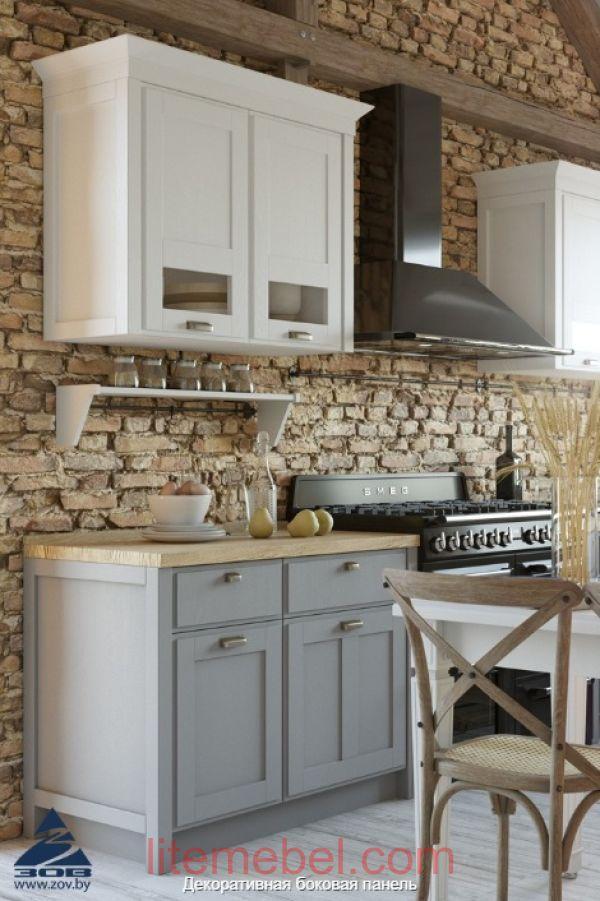 """Кухня с фасадами массив Ясеня """"Лугано"""""""