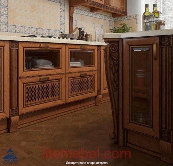 """Кухня с фасадами массив Ясеня """"Мадейра"""""""