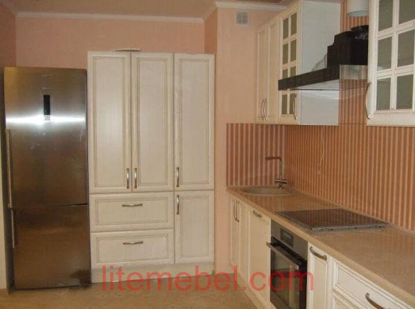 Кухня с фасадом Массив Ясеня, Проект № 4114