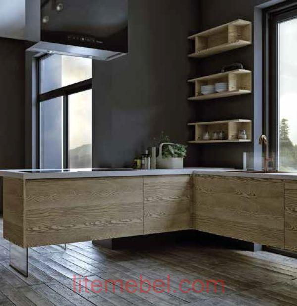 Кухня с фасадами Т 222 / 120 + Палисандр