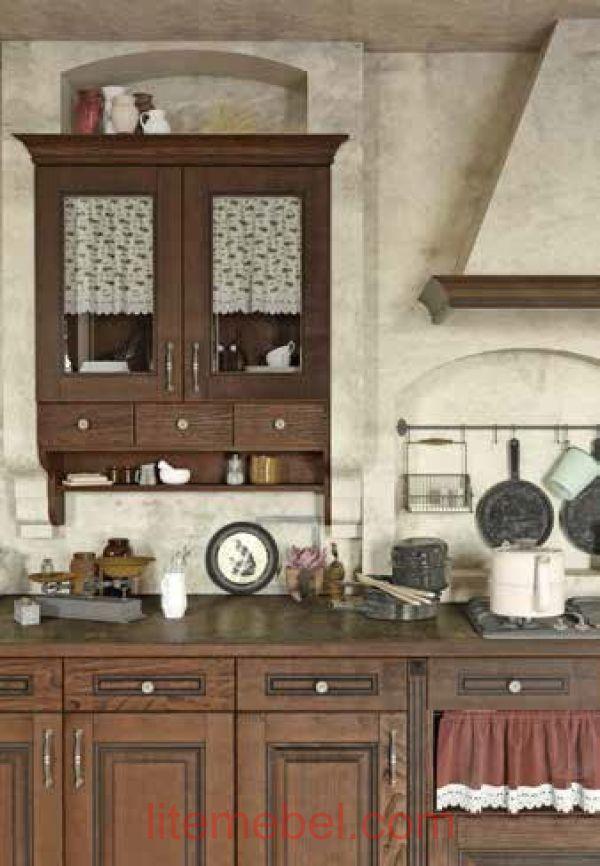 Кухня с фасадами массив Ясеня Т 507 / 127