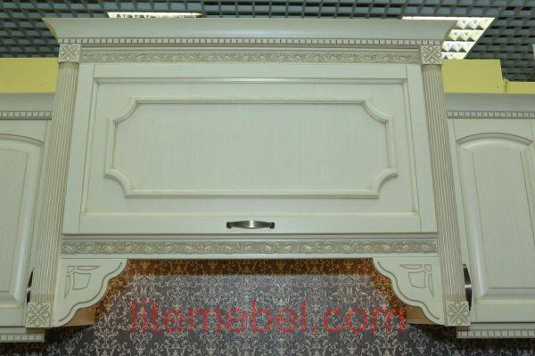 Кухня с фасадом Массив Ясеня, Проект № 4356