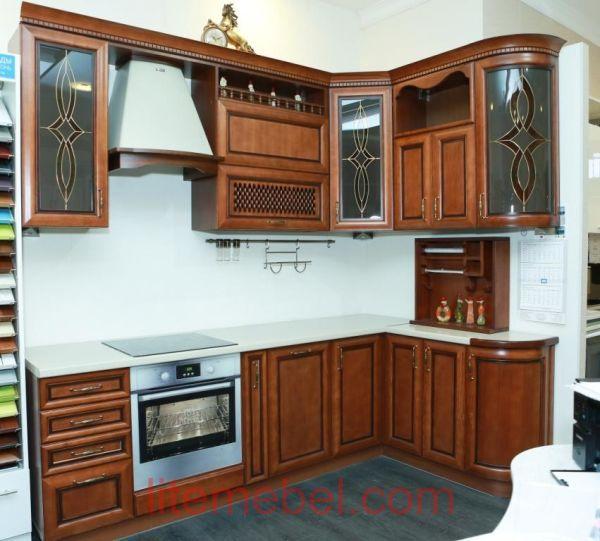 Кухня с фасадом Массив Ясеня, Проект № 4105