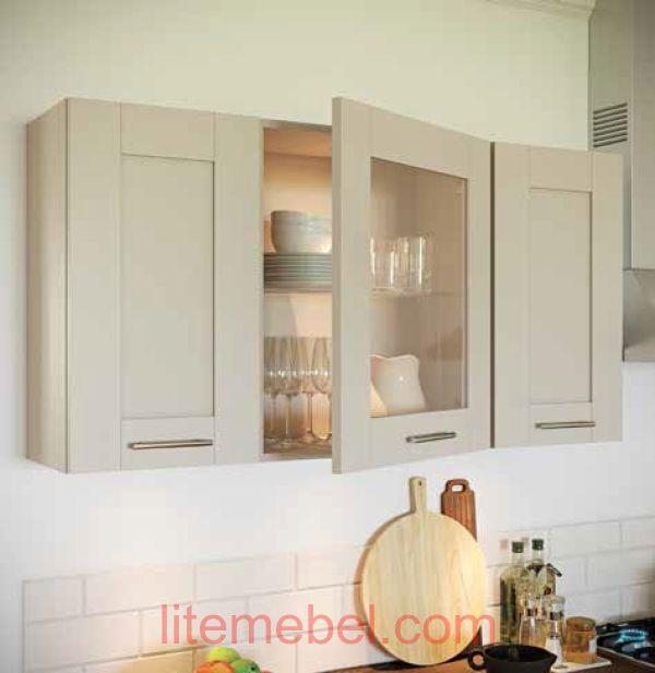 Кухня с фасадами массив Ясеня Т 501 / 124