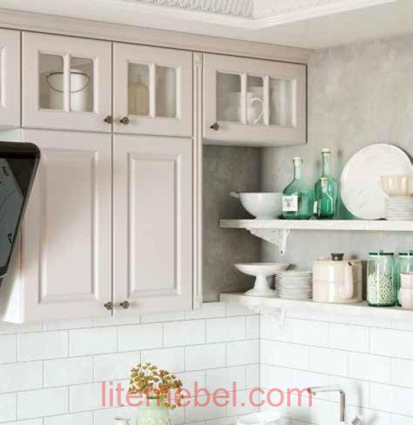 Кухня с фасадами Лонгфорд ZOV231 / RAL9010