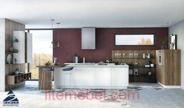 """Кухня с фасадами Акрил """"Берне"""""""