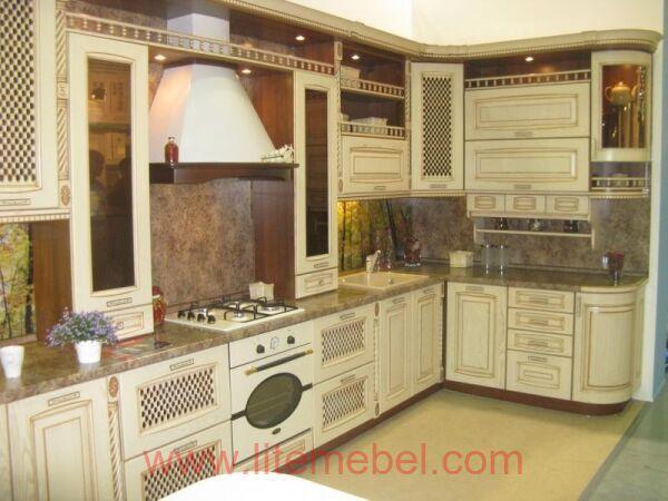 Кухня с фасадом Массив Ясеня, Проект № 4009