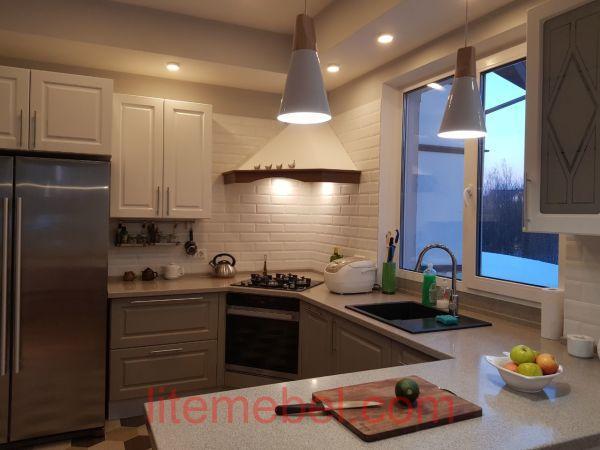 Кухня с фасадами Лонгфорд, Проект № 5635