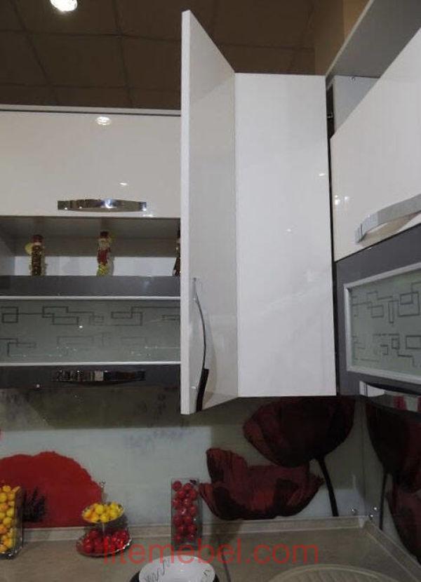 Кухня с фасадами Акрил, Проект № 1117