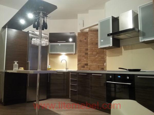 Кухня с фасадами Акрил, Проект №1128
