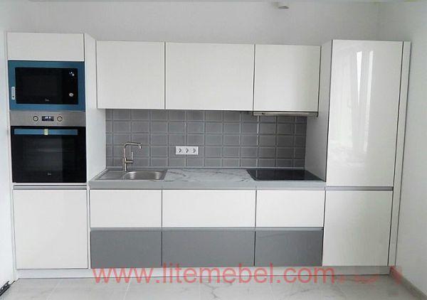 Кухня с фасадами Акрил, Проект №1007