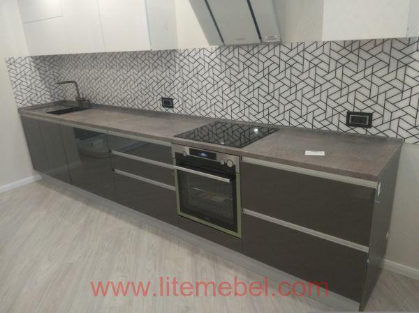 Кухня с фасадами Акрил, Проект №1663