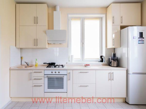 Кухня с фасадами Акрил, Проект №1353